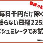 日経225ミニで副業